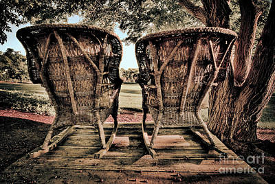 Art Print featuring the photograph Rocking Chairs by Terry Garvin