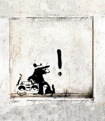 Famous Stencils Painting - Rocking It Old School  by A Rey