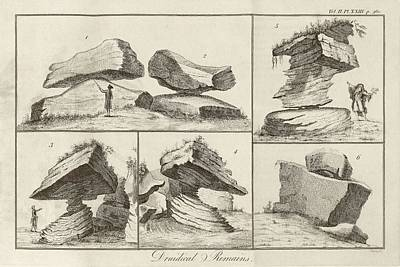 Rocking Stone Print by Middle Temple Library