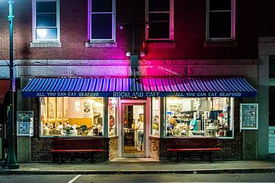 Rockland Cafe At Night Art Print by Tim Sullivan