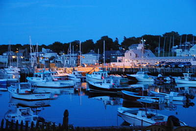 Photograph - Rockport At Night by Jacqueline M Lewis
