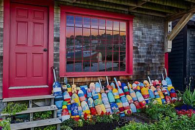 Buoys Photograph - Rockport Buoys by Susan Candelario