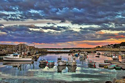 Fishing Shack Photograph - Rockport Dusk by Joann Vitali