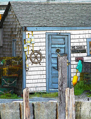 Photograph - Rockport Fishing Shack Rockport Massachusetts by Michelle Constantine