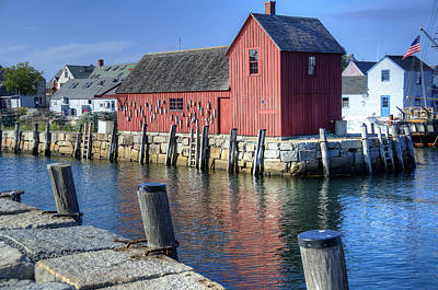 Atlantic Ocean Photograph - Rockport Fishing Village by Donna Doherty