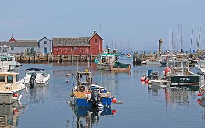 Photograph - Rockport Harbor Motif #1 by Michael Saunders