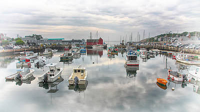 Motif Number 1 Photograph - Rockport Harbor And Motif 1 by Stephen Stookey