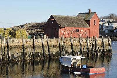 Photograph - Rockport Harbor  by Bradford Martin