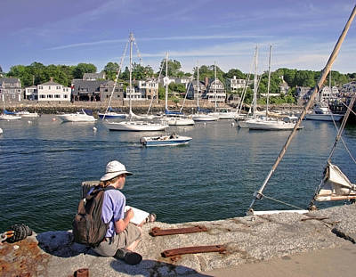 Photograph - Rockport Harbor by Frank Winters