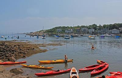 Photograph - Rockport Harbor Kayak Rentals by Michael Saunders