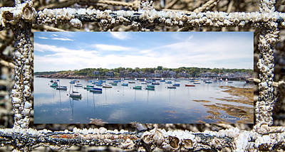 Photograph - Rockport Harbor Massachusetts by Natalie Rotman Cote