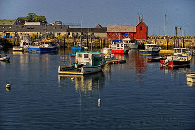 Photograph - Rockport Harbor No.2 by Mark Myhaver