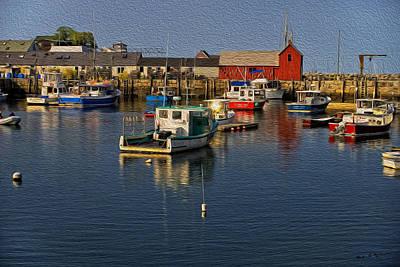 Digital Art - Rockport Harbor No.3 by Mark Myhaver