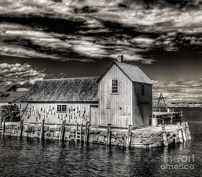 Print featuring the photograph Rockport Harbor by Steve Zimic