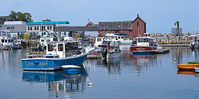 Photograph - Rockport Inner Harbor by Peggie Strachan