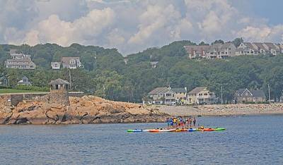 Photograph - Rockport Ma Swim Lessons by Michael Saunders