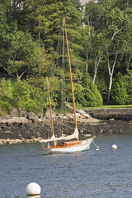 Coastal Maine Photograph - Rockport Maine Sailboat by Keith Webber Jr