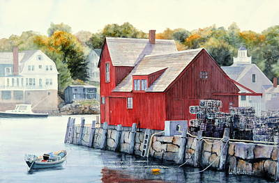 Painting - Rockport Mass by Bill Hudson