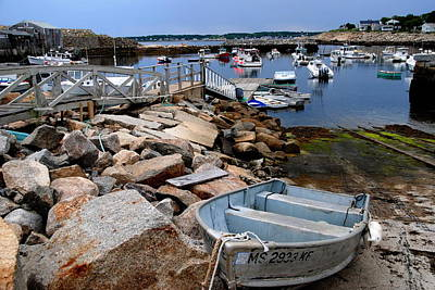 Photograph - Rockport Mass Dock by Jacqueline M Lewis