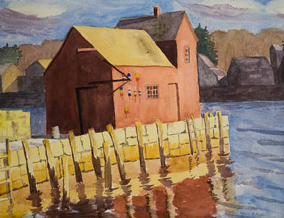 Painting - Rockport Motif Number One by Peggy Poppe