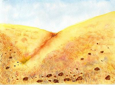 Painting - Rocks And Golden Grass by Jim Taylor