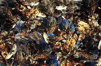 Abstract Design Digital Art - Rocks And Minerals by Klara Acel
