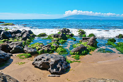 Photograph - Rocks And Pacific Ocean Waves On The Island Of Maui by Marek Poplawski