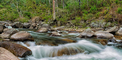 Rocks And Rapids Art Print by Mark Lucey