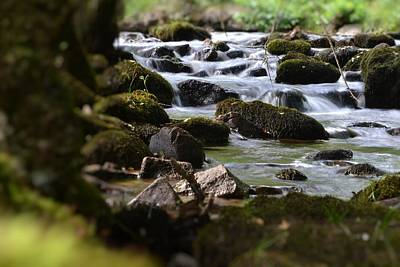 Rocks And The River Art Print by Dave Woodbridge