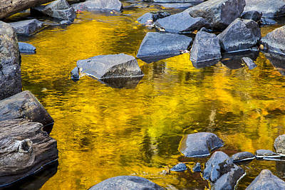 Photograph - Rocks And Water 01 by Jim Dollar