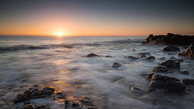 Photograph - Rocks And Waves 1 by Brad Grove
