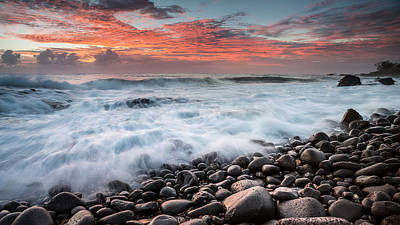 Photograph - Rocks And Waves 3 by Brad Grove