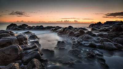 Photograph - Rocks And Waves #7 by Brad Grove