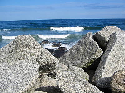 Photograph - Rocks And Waves by Denise Mazzocco