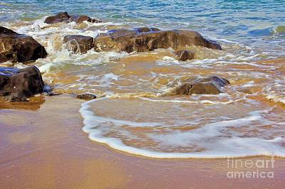 Photograph - Rocks And Waves by Jeremy Hayden