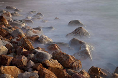 Llandudno Photograph - Rocks And Waves On Llandudno Beach by Jaynes Gallery