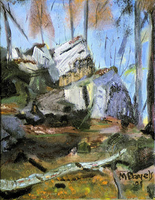 Painting - Rocks At Kittatinny by Michael Daniels