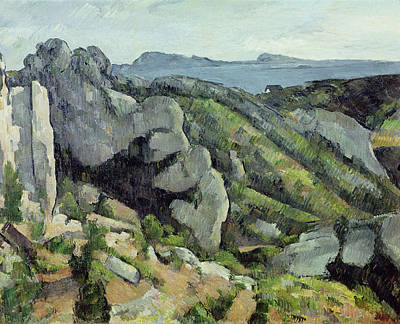 Post-impressionist Photograph - Rocks At Lestaque, 1879-82 Oil On Canvas by Paul Cezanne