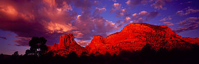 Rocks At Sunset Sedona Az Usa Art Print