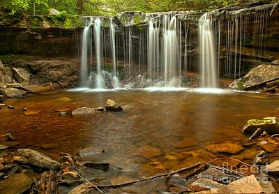 Photograph - Rocks Below Oneida Falls by Adam Jewell
