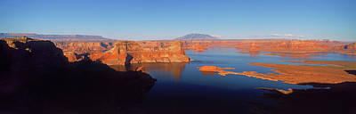 Rocks In A Lake, Lake Powell, Utah, Usa Art Print by Panoramic Images