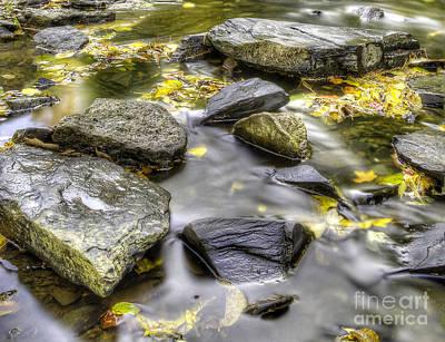 Sturgeon Photograph - Rocks In Stream by Twenty Two North Photography