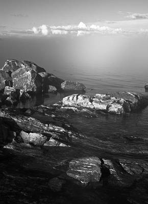 Photograph - Rocks In Sunny Fog by Arkady Kunysz