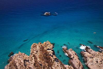 Mare Photograph - Rocks In The Blue Sea by Rossana Coviello