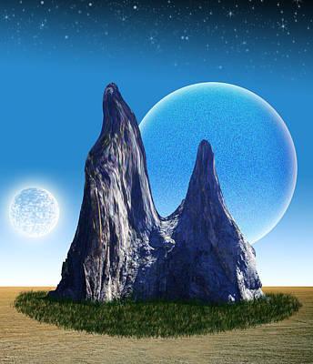 Rocks In The Desert Art Print by Piero Lucia