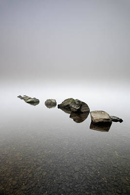 Nothingness Photograph - Rocks In The Mist by Grant Glendinning