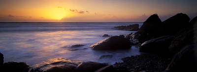 Rocks In The Sea, Whitsand Bay Art Print by Panoramic Images