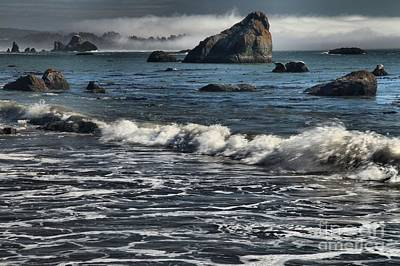 Photograph - Rocks In The Surf by Adam Jewell