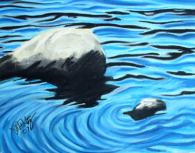 Painting - Rocks In The Water by Michael Foltz
