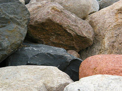 Rocks In Various Colors Art Print